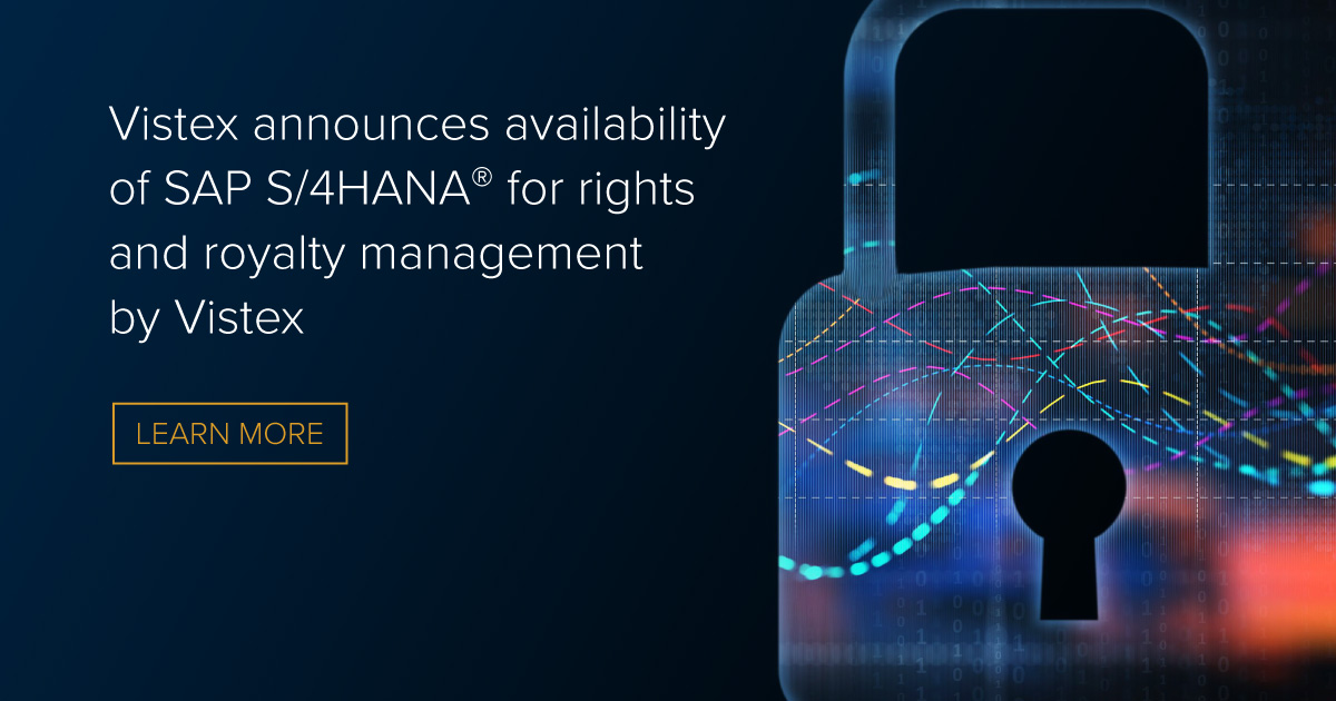 Vistex announces availability of SAP S/4HANA® for rights and royalty management by Vistex